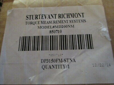 """Sturtevant Richmont Memory Dial torque wrench 0-200 N/M 1/2"""" square drive"""
