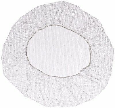 """18"""" White  Nylon Hair Net.  Pack Of 100 Pieces."""