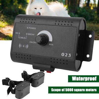 Waterproof Dog Training Electric Fence System In-ground Pet Containment 2 Collar
