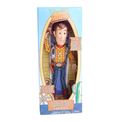 "DISNEY Toy Story Pull String Woody 16"" Talking Figure Exclusive Collection"