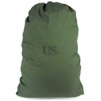 Genuine US Military 100% Cotton Durable Canvas Laundry Bag, Olive Drab Green