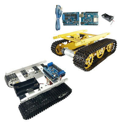 ESPDuino Tracked Robot Smart Car Chassis Aluminium Alloy Tank Chassis