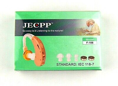 JECPP F-188  Adjustable Hearing Aid, Sound Aid NEW Boxed