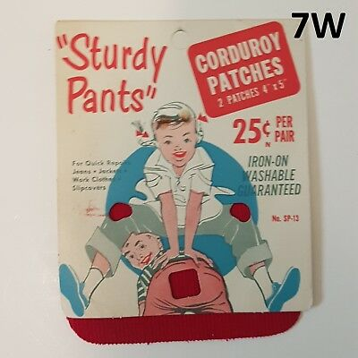 SP2 NEW /& CLEAN VINTAGE 50/'S STURDY PANTS IRON ON PATCH ADVERTISING W// PATCHES