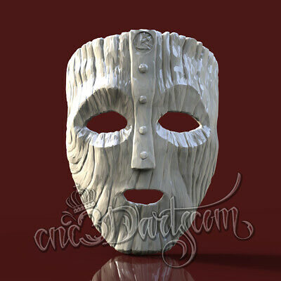 3D Model STL for CNC Router Artcam Aspire Hunting Mask Head Loki Cut3D Vcarve