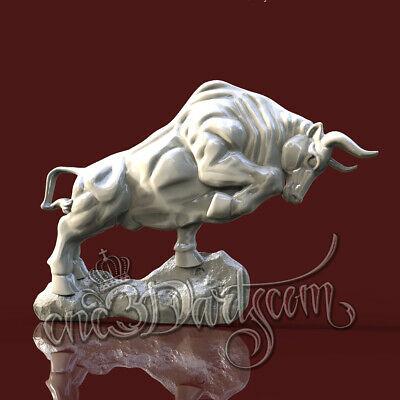 3D Model STL for CNC Router Artcam Aspire Bull Buffalo Animal Panel Cut3D Vcarve