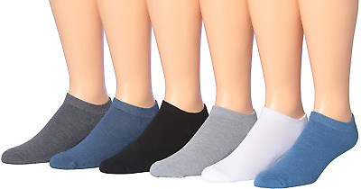 James Fiallo Mens 6-Pack Low Cut Athletic Socks, Fits shoe 6-12, 2891-6