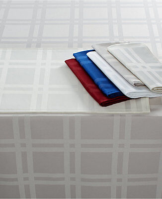 Martha Stewart Table Linens, Skylight Plaid Set  4 Napkins & 4 Placemat Ivory
