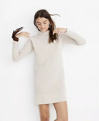 d8c12fc44ae BNWT Madewell Skyscraper Sweater Dress Heather Almond Size Small ( S )