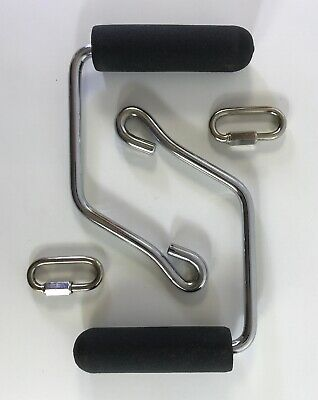 2 TOTAL GYM HANDLE SECURING Locking CLAMPS Rings Carabiners XLS XL 1000 1700