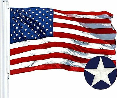 2x3 Ft American Flag US | Embroidered Stars Sewn Stripes Deluxe USA