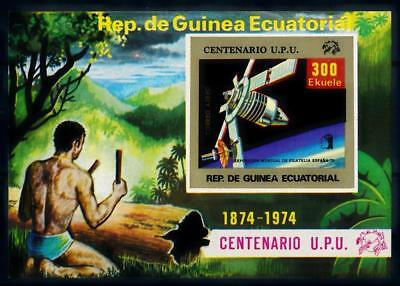 [64268] Equatorial Guinea 1974 Space Travel Satellite Imperf. Sheet MNH