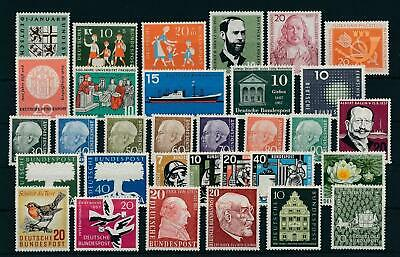 West Germany Bundespost 1957 Complete Year Set  MNH