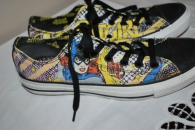 7053d33f23e1 Converse All Star BATGIRL Low Tops Ladies Shoes Size 9 ~ Excellent pre-owned