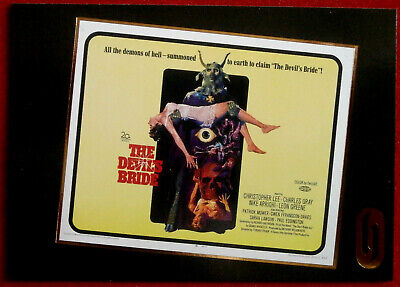 HAMMER HORROR - Series One - Gold Foil Card F6 - THE DEVIL'S BRIDE / RIDES OUT