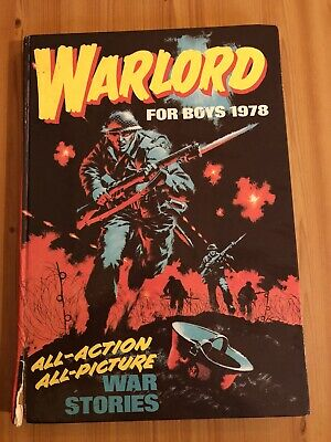 Warlord For Boys 1978 Vintage Book Annual Retro Birthday Gift Present