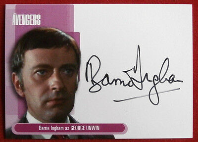 THE AVENGERS - BARRIE INGHAM as George Unwin Autograph Card A9 Strictly Ink 2003