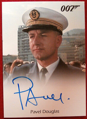 JAMES BOND - GOLDENEYE - PAVEL DOUGLAS as French Warship Captain, Autograph Card