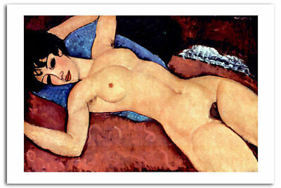 Reclining Nude By Modigliani  Art Print Posters A2 42 x 60 CM 03306