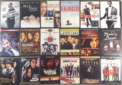 Choose any of these crime film DVDs $1.99 each~additional DVDs ship for 25¢ each