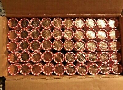 2019-D Uncirculated Penny Cent 50 Roll Bank Box 2500 Coin Lincoln Shield Pennies