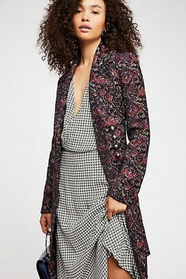 25356aabdc364 Free People NWT Size Small Fox Trot Equestrian Jacquard Coat New Jacket S