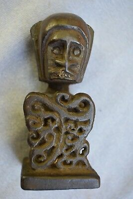 "ORIG $699 PAPUA NEW GUINEA KORWAR AMULET 4"" EARLY 1900S prov"