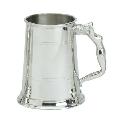 Pewter 1pt Nymph Handled Tankard