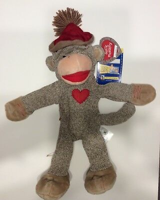 New With Tags UNSTUFFED Build A Bear Workshop Sock Monkey Limited Edition Free S