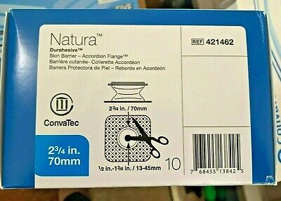 Box of 10 ConvaTec Natura Durahesive Accordion Flange REF 421462