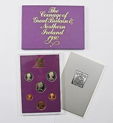 Cased Royal Mint 1980 United Kingdom Brilliant Uncirculated Coin Collection