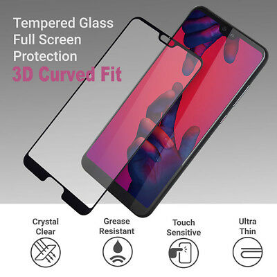 Fits For Huawei P20 Lite Pro Full Glass 3D Tempered Glass Screen Protector Cover