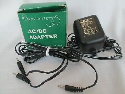 Department 56 AC/DC Adapter 5502-6 Connects 3 Village Accessory