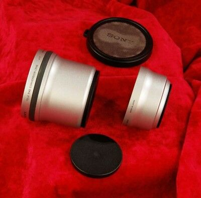 Complete!  SONY  1.7x TELE CONVERTER LENS VCL-DEH17V  adapter and covers