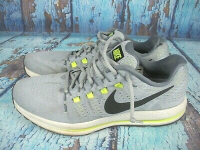 9802b287767a Nike Air Zoom Vomero 12 Gray Green Athletic Running Shoes Men s Size  US 13