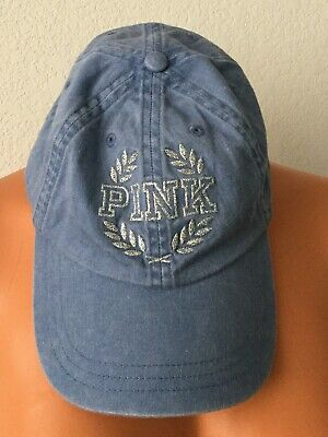 0d811692f New Victoria's Secret Pink One Size Hat Baseball Cap Blue Pink Logo #6166