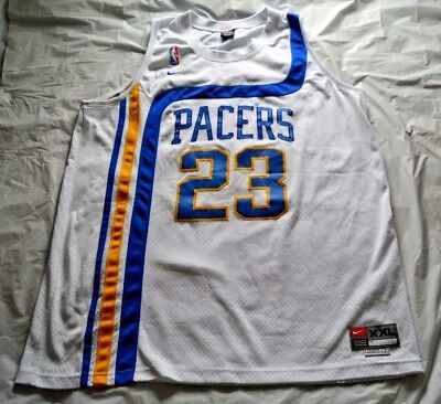 7b75843e7ef Ron Artest Metta World Peace Indiana Pacers Nike Swingman Home Jersey -  Size 2XL