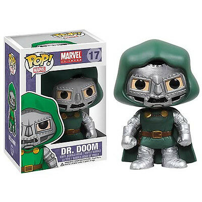 "FUNKO POP 2014 Marvel DR DOOM #17 RETIRED Vinyl 3 3/4"" Figure Sealed IN STOCK"