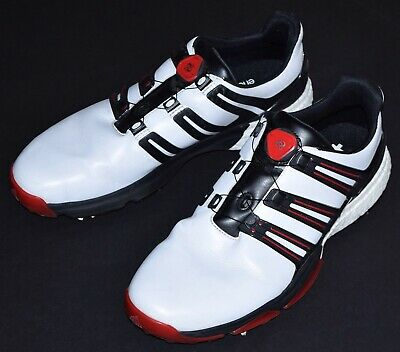 f3af669c5 ADIDAS POWERBAND BOA Men s Golf Shoes Q44768 Boost Size 10 White ...