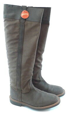 49c636611f9 Women s CAMPER Knee-High Boots SIZE 8 Brown Canvas and Suede NEW WITH TAGS