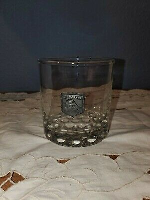 Cutty Sark whiskey glass pewter schooner THE REAL McCOY bubble base 10 oz