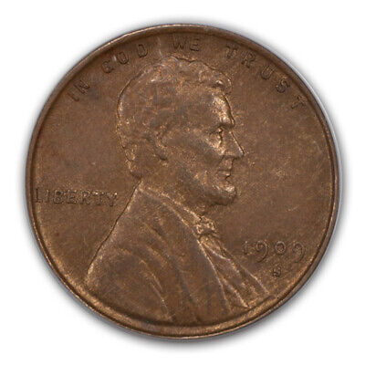 1909-S VDB 1C Lincoln Cent - Type 1 Wheat Reverse PCGS MS62BN (CAC)