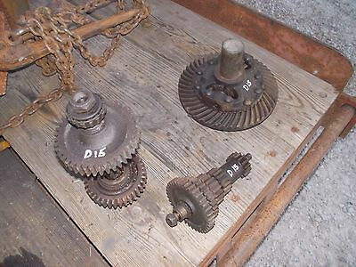 Allis Chalmers D15 Tractor AC transmission lower & top & rev drive gears shafts