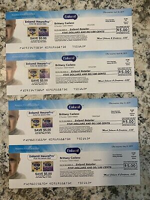 Enfamil Formula/Products Coupons total $20 Exp Date: 04/30 and 5/31 Baby Formula