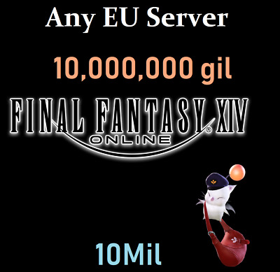 [ANY EU Server]  10 Million GIL -Final Fantasy XIV- 10,000,000 FFXIV PC PS4 PS3