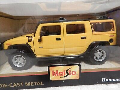 Maisto Special Edition HUMMER H2 YELLOW SUV 1:27 Scale die cast