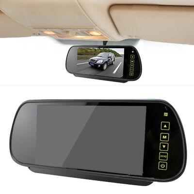 "7"" Wireless TFT LCD Mirror Monitor  170°Car Rear View Reverse IR LED Camera Kit"
