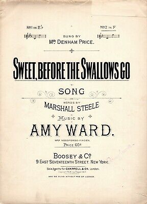 """""""Sweet, Before the Swallows Go"""" No. 2 in F; Vintage 1901 Antique"""