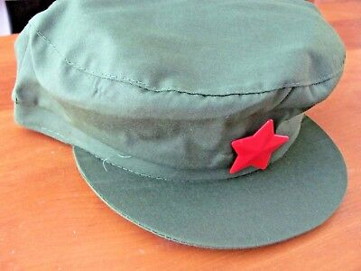 China Chairman Mao Tse Tung Red Army Military Hat Cap Size Medium Or Large