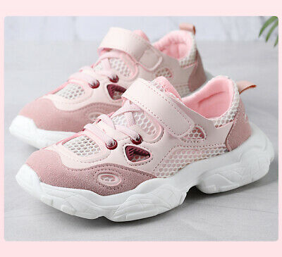 27-37 Kids Boys Girls Hollow Chunky Sports Shoes Trainers Sneaker Running Jogger
